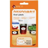 Maco Dissolvable Label, Small Oval - Labels