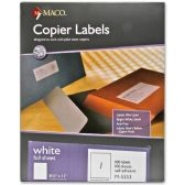 30 Units of Maco M-5353 Self-Adhesive Full Sheet Copier Labels - Labels
