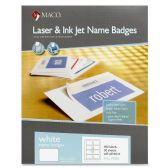 15 Units of Maco ML-7000 Self-Adhesive Laser/Inkjet Name Badge Labels - Labels