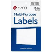162 Units of Maco MS-620 Multipurpose Removable Self-sticking Labels - Labels