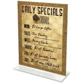 Deflect-o Classic Image Standup Sign Holder - Sign