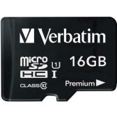 Verbatim 16GB microSDHC Card (Class 10) w Adapter - Flash Drives