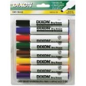 Dixon Wedge Tip Dry Erase Markers - Dry erase