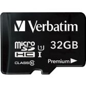 Verbatim 32GB microSDHC Card (Class 10) w Adapter - Flash Drives