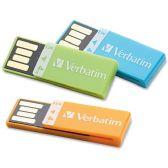 32 Units of Verbatim 4GB Clip-it 97563 Flash Drive - 3 Pack - Flash Drives