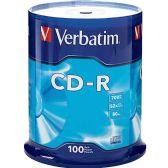 Verbatim 94554 CD Recordable Media - CD-R - 52x - 700 MB - 100 Pack Spindle - Data Media