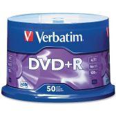 Verbatim 95037 DVD Recordable Media - DVD+R - 16x - 4.70 GB - 50 Pack Spindle - Data Media