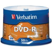 Verbatim 95101 DVD Recordable Media - DVD-R - 16x - 4.70 GB - 50 Pack Spindle - Data Media