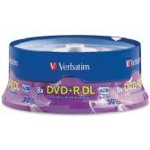 Verbatim 96542 DVD Recordable Media - DVD+R DL - 8x - 8.50 GB - 30 Pack Spindle - Data Media