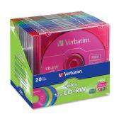 42 Units of Verbatim 96685 CD Rewritable Media - CD-RW - 12x - 700 MB - 20 Pack Slim Case - Data Media