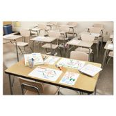 Dry Erase Surface with Adhesive Backing, 15 x 11, White, 15/Pack - Dry erase