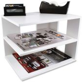 Victor Pure White Collection Wood Corner Shelf - Storage & Organization