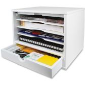 Victor Pure White Collection Wood Desktop Organizer - Storage & Organization