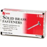 Acco Solid Brass Round Head Fasteners - Fasteners