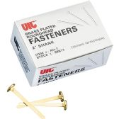 OIC Brass Plated Roundhead Fasteners - Fasteners