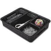 Advantus 5-pack Plastic Weave Bins - Storage & Organization