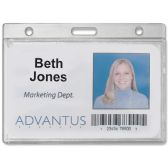 Advantus Frosted Horizontal Badge Holder - Badge holder