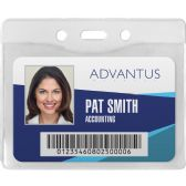 75 Units of Advantus Horizontal Security Badge Holder - Badge holder