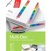 48 Units of Wilson Jones Multidex 90303 Index Divider - Dividers & Index Cards