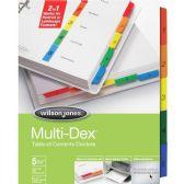 120 Units of Wilson Jones MultiDex Divider - Dividers & Index Cards