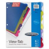 96 Units of Wilson Jones View-Tab Poly Divider without Pockets - Dividers & Index Cards