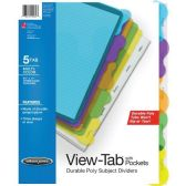 72 Units of Wilson Jones View-Tab Sublect Divider with Pockets - Dividers & Index Cards
