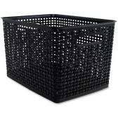 Advantus Plastic Weave Bin - Storage & Organization