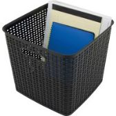132 Units of Advantus Plastic Weave Bin - Storage & Organization
