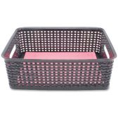 Advantus Plastic Weave Bins - Storage & Organization