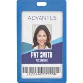 Advantus Vertical Rigid ID Badge Holder - Badge holder