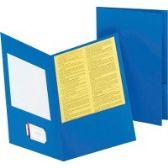 Oxford Double Pocket Leatherine Portfolios - Folders & Portfolios