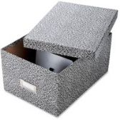 6 Units of Oxford Index Card Storage Boxes - Boxes
