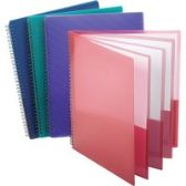 Oxford Wire Binding 8-Pocket Folders - Binders