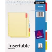 Avery 3-Hole 5-Tab Divider - Dividers & Index Cards