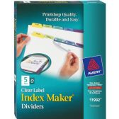 Avery 5-Colored Tabs Presentation Divider - Dividers & Index Cards