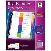 Avery 6-Tab Days of the Week Divider - Dividers & Index Cards