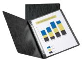 10 Units of Oxford™ Pressboard Report Covers with Scored Side Hinge, Black - Report cover
