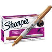 Sharpie Metallic Permanent Markers, Bronze - Markers
