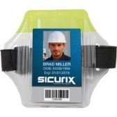 SICURIX Reflective Armband Badge Holder - Vertical - Badge holder
