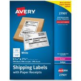 Avery Paper Receipt White Shipping Labels - Paper