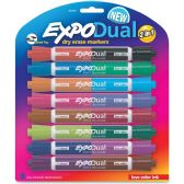 Expo Dual 2-in-1 Dry Erase Markers - Dry erase