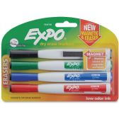 Expo Eraser Cap Fine Magnetic Dry Erase Markers - Dry erase