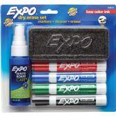 Expo Low Odor Dry Erase Set - Dry erase