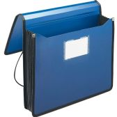 Smead 71503 Navy Blue Poly Premium Wallets - File Folders & Wallets