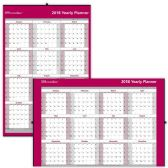 19 Units of Brownline Laminated Yearly Wall Calendar - Calendar