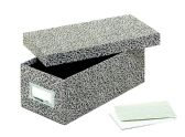 "12 Units of Globe-Weis Fiberboard Index Card Storage Boxes, 3"" X 5"" Card Size, Black, Agate - Boxes"