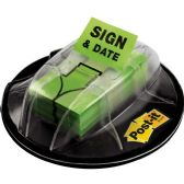 Post-it Adhesive Sign/Date Flags with Dispenser - Sign