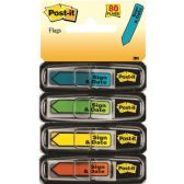 Post-it Assorted Color Sign & Date Flags - Sign