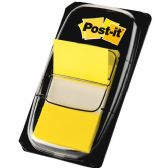 Post-it Flags Value Pack, Yellow, 1 in Wide, 50/Dispenser, 12 Dispensers/Pack - Flag