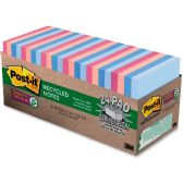 Post-it Recycled Super Sticky Notes in Farmers Market Colors - Office Supplies